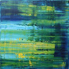 Koen Lybaert - abstract N° 1369 [Angle Tarn - The lake district] - oil on canvas [70 x 70 x 4] / 2015