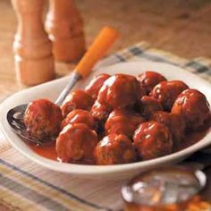 Venison Meatballs Recipe Main Dishes with onion, instant rice, salt, pepper, venison, water, brown sugar, ketchup, condensed tomato soup, ground mustard, paprika