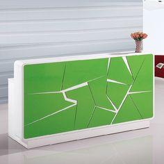 Online Hot sale commercial furniture high gloss nail salon reception desk