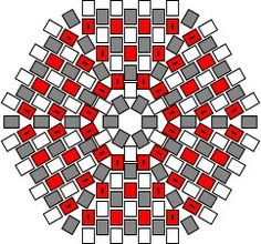 Graph paper for Japanese cylinder beads and basic instructions for hexagonal peyote worked in the round. - Hexagonal Flat Peyote Worked In Rounds - Beadwork at BellaOnline Beaded Flowers Patterns, Seed Bead Patterns, Beaded Jewelry Patterns, Peyote Patterns, Beading Patterns, Bracelet Patterns, Beading Techniques, Beading Tutorials, Peyote Stitch Tutorial