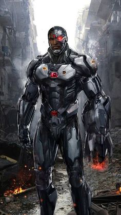 Cyborg Redux 1 by uncannyknack Featured on Cyrail: Inspiring artworks that make your day better Cyborg Dc Comics, Marvel Dc Comics, Dc Comics Art, Comics Girls, Dc Heroes, Comic Book Heroes, Comic Books, Comic Art, Graphic Novels