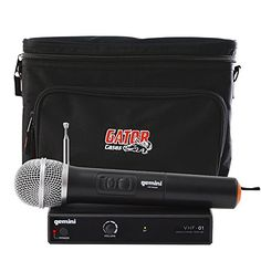 Gemini DJ VHF01M Wireless Handheld Microphone w Gator Cases Bag * Click image to review more details.