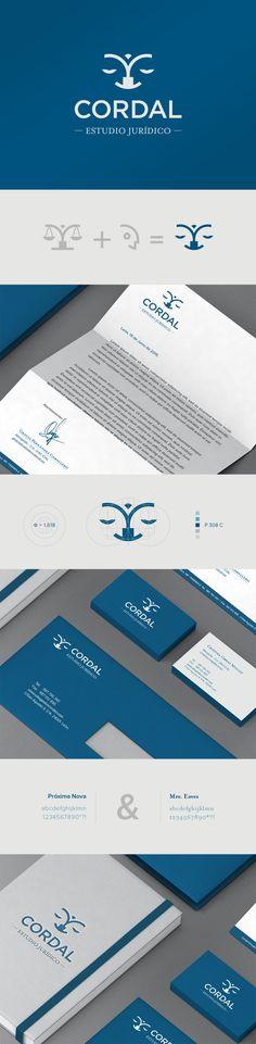 CORDAL, ESTUDIO JURÍDICO. 2015. Imagen Corporativa.  #branding #identity #lawyers