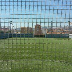 La pista en la azotea de Málaga. Nunca has entrenado en un sitio así.