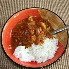Curry met kalkoen