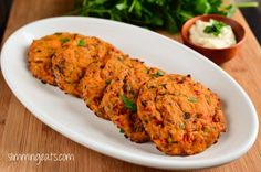 Slimming Eats Recipe - Tuna and Sweet Potato Patties - Gluten Free, Dairy Free, Paleo, Slimming World and Weight Watchers friendly paleo lunch tuna Sweet Potato Recipes, Baby Food Recipes, Cooking Recipes, Kid Recipes, Meal Recipes, Free Recipes, Dinner Recipes, Healthy Snacks, Healthy Eating