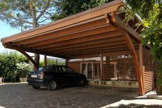 Pergola Kits With Canopy Product Pergola Carport, Backyard Pergola, Patio Roof, Pergola Plans, Pergola Ideas, Cantilever Carport, Carport Canopy, Metal Barn Homes, Metal Building Homes