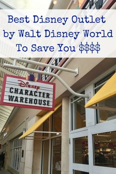 How to save money at the best Disney Outlet closest to Walt Disney World! You can save up to 80% off of Disney Theme Park merchandise at the Character Warehouse near Disney Springs. Great for your budget!