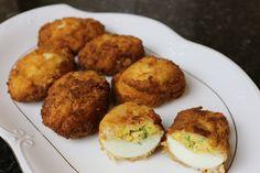 Buena cocina mediterranea: Huevos empanados con bechamel