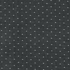 Cotton chambray dots in black