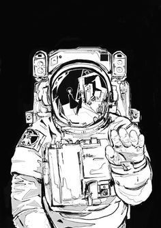 Astronaut Illustration, Space Illustration, Illustrations, Mayor Tom, Astronaut Tattoo, Astronauts In Space, Astronomy, Painting & Drawing, Cool Art