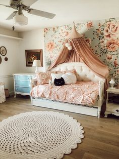 Little Girl Room, Trundle Bed - Casey Wiegand of The Wiegands Girls Daybed Room, Girls Trundle Bed, Small Room Bedroom, Bedroom Decor, Small Rooms, Bedroom Ideas, Bedroom Designs, Toddler Trundle Bed, Twin Daybed With Trundle