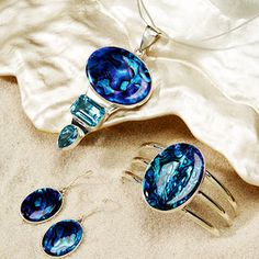 Abalone Shell and Topaz Jewelry