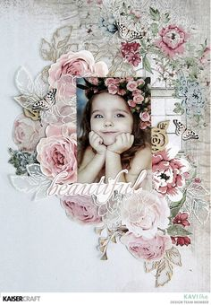 'Perfect Day' Shabby Chic Layout by Kavitha for Kaisercraft Official Blog Featuring October 2017- 'Rose Avenue' collection. Learn more at kaisercraft.com.au - Wendy Schultz - Kaisercraft layouts & projects.