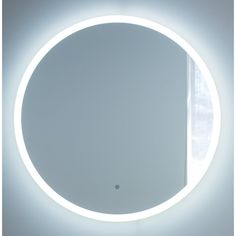 Miseno Mirrored W x H Circular Frameless Wall Mounted Mirror with LED Lighting