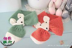 ergahandmade: Hand Knit Fox Scarf + Pattern Step By Step