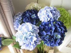 10 pcs Silk Hydrangea Flower With Stem, 8 colors, Wedding Table Centerpieces, Home Decor, Artificial Hydrangea Bouquet