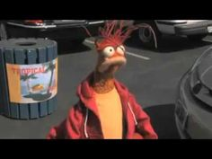 In one of Disney Xtreme Digital's three Drive Thru videos, Pepe the King Prawn can't understand a word the attendant  (voiced by Victor Yerrid)  is saying when he tries to order food at Tropical Taco.