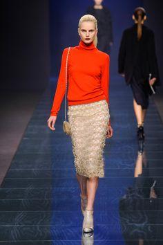 Anteprima at Milan Fashion Week Fall 2013 - Crochet Skirt