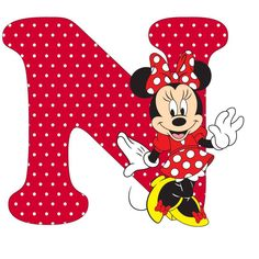 Letter N Minnie Mouse