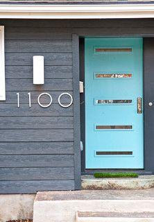 Front door and number