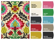 Paint colors from Chip It! by Sherwin-Williams / Fabric - Waverly Santa Maria Desert Flower