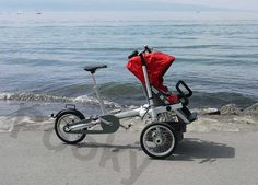 China Innovative Design Three Wheel Transformer Baby Stroller Buggy Bike Europe Style supplier