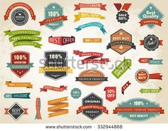 Vintage vector set of labels banners tags stickers badges design elements./Vintage Vector Set of Label Banner Tag Sticker Badge/Vintage Vector Set of Label Banner Tag Sticker Badge Badge Design, Stickers, Free Vector Art, Design Elements, Cool Things To Buy, Kids Rugs, Ribbons, Banners, Tags