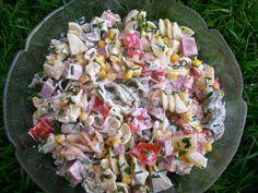 Monia miesza i gotuje: Kolorowa sałatka z makaronem