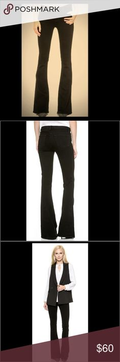 J Brand Black Martini Skinny Flare Jeans - Shadow These retro-inspired J Brand jeans have a slim fit through the thighs and a dramatic flared hem. 5-pocket styling. Single-button closure and zip fly.  Fabric: Stretch denim. 92% cotton/7% polyester/1% elastane. Wash cold. Made in the USA. Excellent condition. J Brand Jeans Flare & Wide Leg
