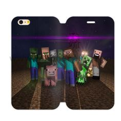iphone 4 4s full cover Leather Case Cover Design With UK7 minecraft