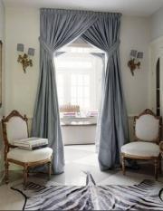 Оформление дверных проемов шторами. Шторы на дверной проем | Блиц текстиль