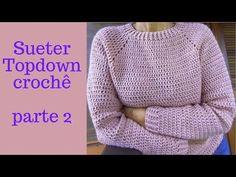 Gilet Crochet, Crochet Shirt, Crochet Jacket, Crochet Cardigan, Crochet Yarn, Crochet Stitches, Knit Crochet, Crochet Patterns, Top Down
