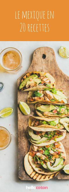 Tacos, quesadillas, guacamole... 20 recettes mexicaines ! #recettes #recettefacile #cuisine #mexique #guacamole #quesadillas #tacos