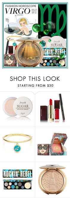 """""""Virgo Beauty Secrets"""" by anniecy ❤ liked on Polyvore featuring beauty, Fresh, Kevyn Aucoin, Kate Spade, Benefit, MAC Cosmetics, Beauty, mac, benefit and Virgo"""
