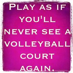 always. Volleyball.