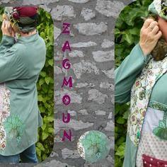 Manteau femme créateur original modèle unique zagmoun