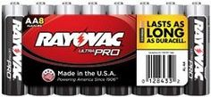 Rayovac Alk.Shrink-Wrap Batteries. They provide ultimate energy with long-lasting power.