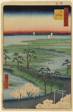 第29景 砂むら元八まん 安政3年(1856)4月