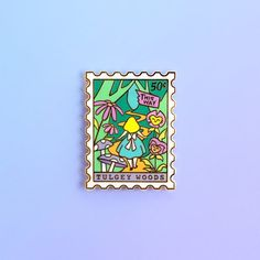 Stamp Collecting, Cute Pins, Pin And Patches, Lapel Pins, Letterpress, Wonderland, Enamel, Fantasy, Woods
