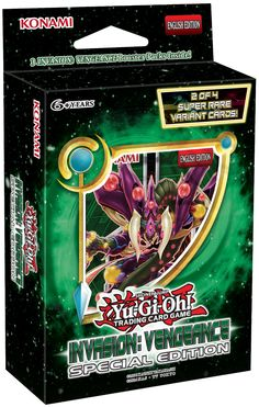 Yugioh Invasion: Vengeance Special Edition Box Brand new in original factory-sealed packaging! Yugioh Card Game - Invasion: Vengeance Special Edition 2 of 4 Super Variant Cards Yugioh Decks, Box Branding, Release Date, New Beginnings, 6 Years, Card Games, Cards, Identity, Campaign