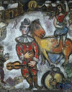Circus in Town by Marc Chagall, 1887-1985 - stock photo