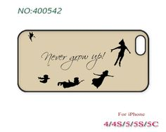 Phone Cases, iPhone 5/5S Case, iPhone 5C Case, iPhone 4/4S Case, Phone covers, Never grow up, Case for iPhone-400542