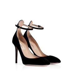 Black Suede High Heeled Pumps