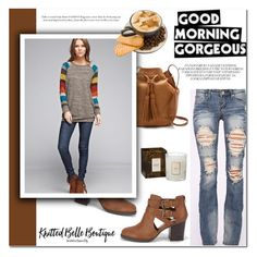 """""""Good morning gorgeous"""" by helenevlacho ❤ liked on Polyvore featuring Voluspa, J.Crew, Bellamie, Machine, knittedbelleboutique and knittedbelle"""