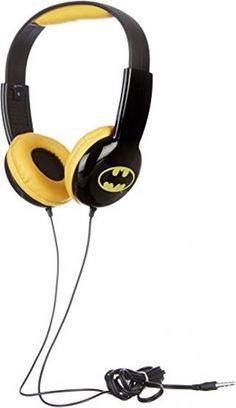 KIDdesigns Headphones Batman Play Sound Music Adjustable Tool Kids Christmas #WarnerBros