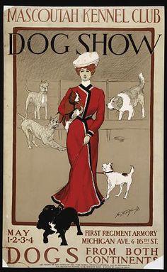 Mascoutah Kennel Club Dog Show - Vintage Dog Poster Vintage Advertising Posters, Vintage Travel Posters, Vintage Postcards, Vintage Advertisements, Classic Movie Posters, Dog Poster, Retro Poster, Kunst Poster, Poster Prints