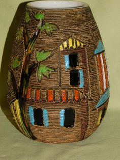 Vase Fratelli Fanciullacci Alla Moda Italia Vintage Italy, Mid Century, Pottery, Ceramics, Ebay, Ceramica, Ceramica, Pottery Marks, Ceramic Art
