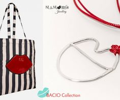 #BACIOmania #kiss outfit for all ages #MUMooshJewellery #silver #BACIOcollection LuluGuinness tote