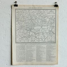 Vintage Map Of London, $24, now featured on Fab.